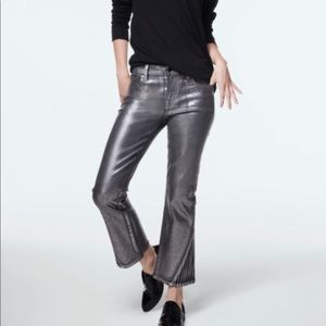 J Brand Selena cropped bootcut in foiled chrome